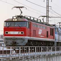 城東貨物線でEF510+EF66重連の貨物列車