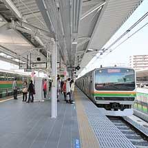 浦和駅で湘南新宿ラインホームの使用開始