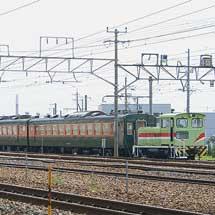 しなの鉄道169系S52編成2両と115系S5編成が長野総合車両センターへ