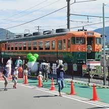 坂城駅の169系S51編成が車内開放される