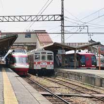 長野電鉄須坂駅でミニイベント開催