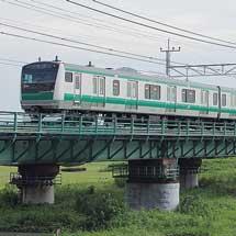 E233系7000番台ハエ105編成が返却される