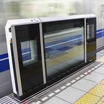 有楽町線豊洲駅に新形ホームドア試験設置