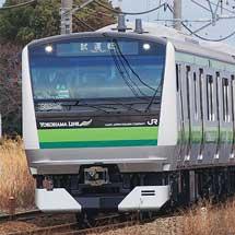 E233系6000番台H016編成が東海道本線貨物線内で試運転