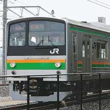 205系600番台Y11編成が構内試運転