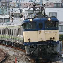 E233系6000番台H008編成が配給輸送される