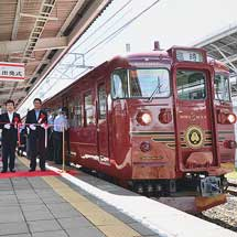 しなの鉄道で観光列車「ろくもん」が営業運転を開始