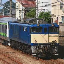 E233系6000番台H015編成が配給輸送される