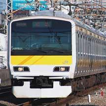 E231系500番台が中央・総武緩行線仕様となって出場