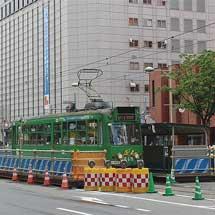 札幌市電すすきの電停,ループ化工事にともない一時移設
