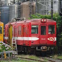 銚子電気鉄道線デハ1002が仲ノ町車庫に戻る