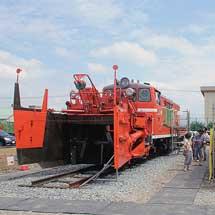 新津鉄道資料館でDD14 332,クハ481-1508の公開イベント