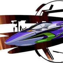 「新幹線:エヴァンゲリオン プロジェクト」にあわせて「500 TYPE EVA」運転