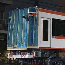 都電荒川線の新形車両が搬入される