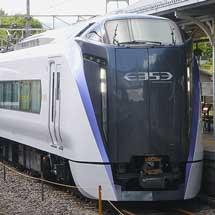 E353系が9両編成で山梨県内に乗り入れ