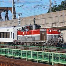 もと371系が富士急行へ甲種輸送される
