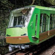 大山観光電鉄(大山ケーブルカー)で夜景運転・沿線ライトアップを実施