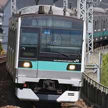 E233系マト7編成が小田急多摩線内で試運転を実施