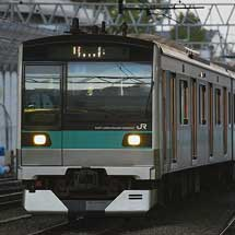 E233系マト7編成が小田急電鉄海老名検車区へ