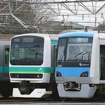 小田急4000形が常磐線で試運転