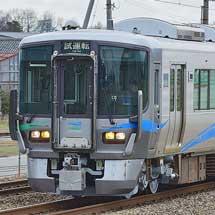 あいの風とやま鉄道521系が福井まで試運転