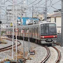 名鉄瀬戸線喜多山駅付近の下り線が仮線に