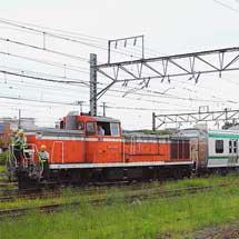 E721系1000番台中間車が甲種輸送される