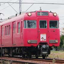 名鉄6000系6028編成に岡崎グルメキャンペーン系統板