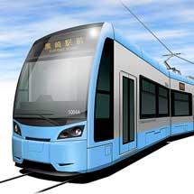筑豊電気鉄道5004号車のカラーリングはライトブルーに