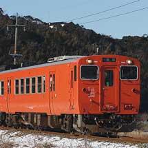 山陰本線でキハ40・キハ41・キハ47の4両編成が走る