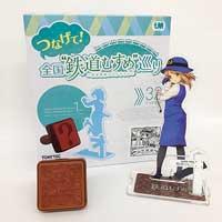 山形鉄道『「鮎貝りんご」ミニスタンプ&アクリルフィギュア』発売