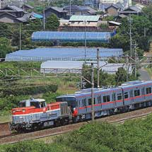 名鉄3300系が甲種輸送される