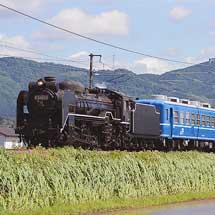 D51 200が12系5両とともに試運転を実施