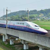 E4系による「東北新幹線開業35周年記念号」運転