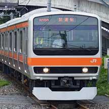 武蔵野線用のE231系MU2編成が試運転を実施