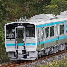 八戸線でキハE130系の試運転開始
