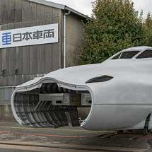 「N700S」の先頭車両構体と客室モックアップが公開される