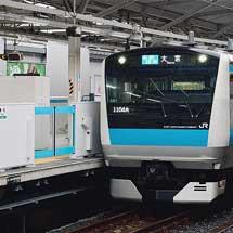 京浜東北線浦和駅でホームドアの使用開始