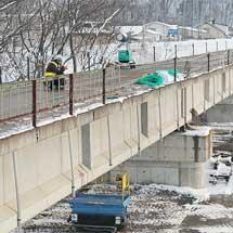 旧ふるさと銀河線無加川橋梁の撤去が始まる