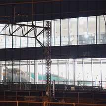 鉄道博物館の400系が展示場所へ移動