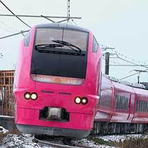 ハマナス色のE653系1000番台U107編成が営業運転を開始
