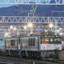 広島更新色ふうEF64 1046とEF64 1049が総括重連運用に充当される