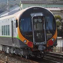 JR四国8600系E3編成が甲種輸送される