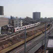 名鉄,名古屋本線知立駅付近の上り線を仮線に変更