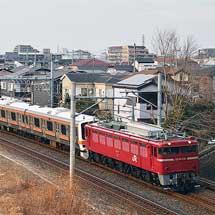 209系500番台M73編成が秋田から回送される
