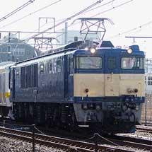 209系C516編成が配給輸送される