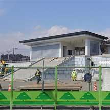 「あしかがフラワーパーク」駅の建設工事が進む