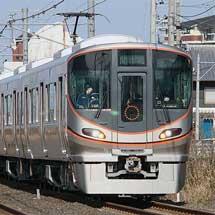 323系が日中,関西本線を走行