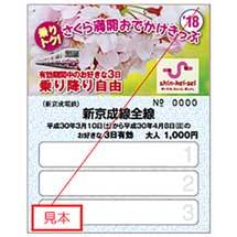 新京成「乗りトク!さくら満開おでかけきっぷ」発売
