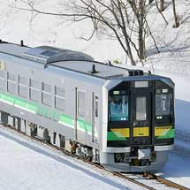 H100形が函館本線山線で試運転